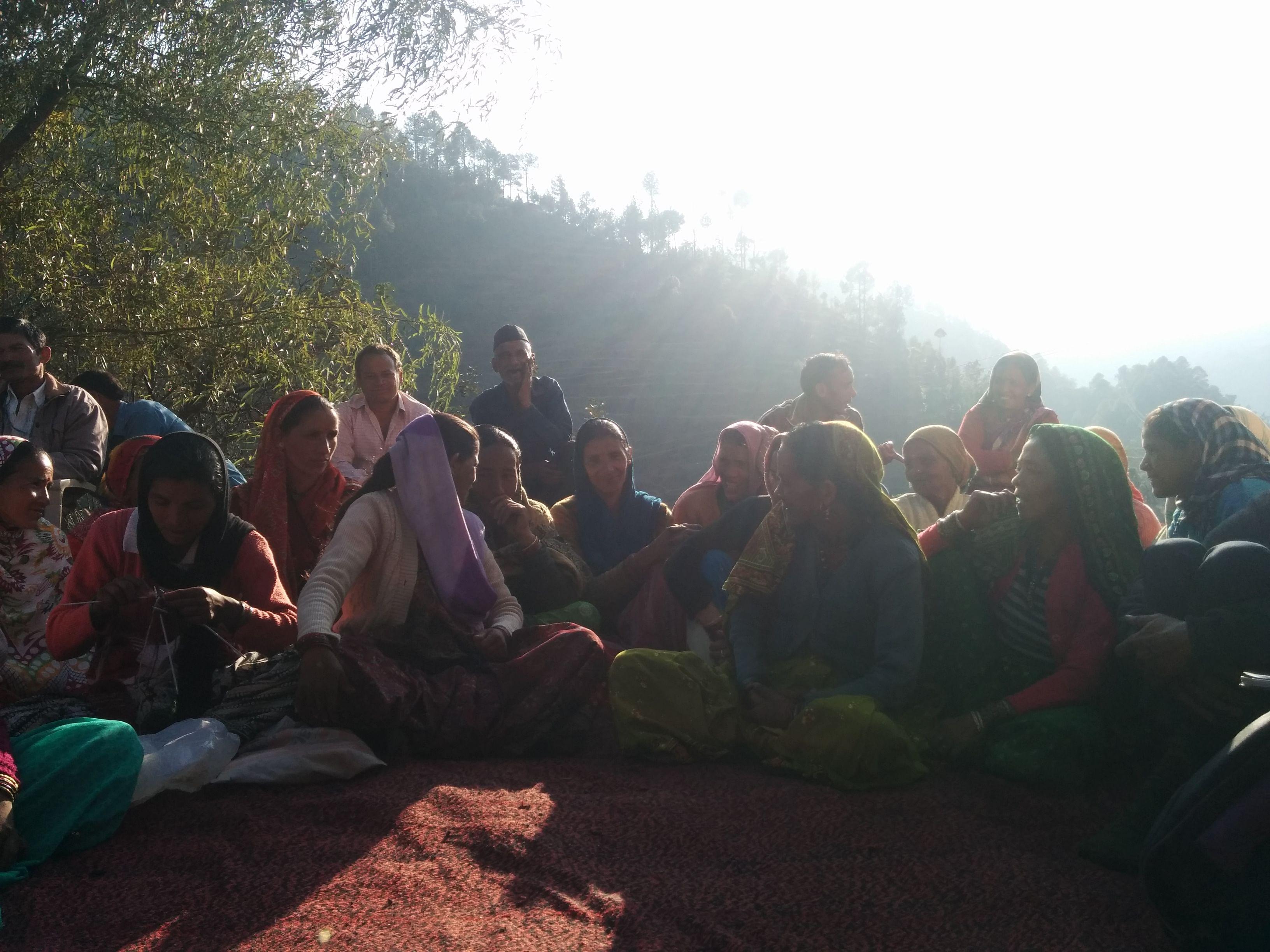Meeting with women farmers in Pokhrar