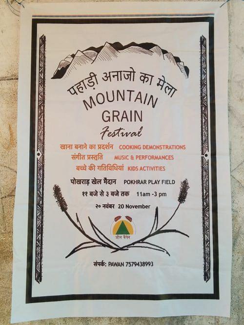Poster for mountain grain mela