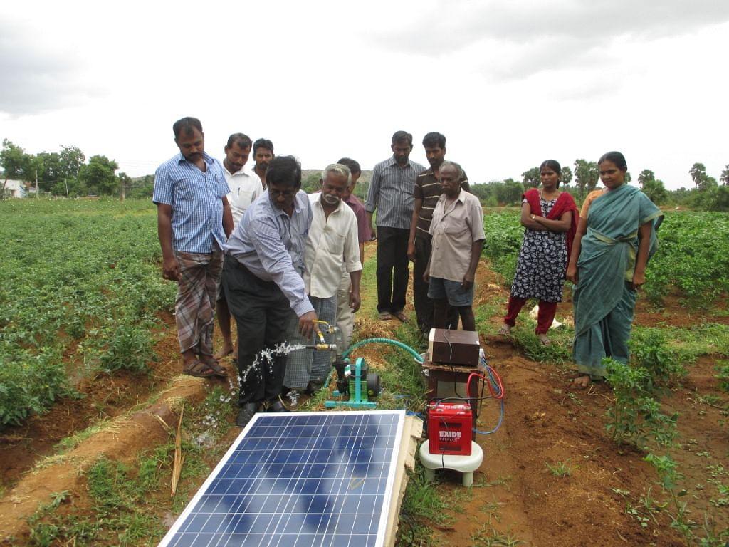 Solar Pumps Help Farmers Beat Drought In Tamil Nadu