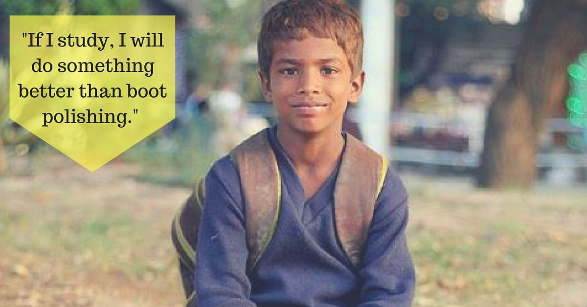 This Young Boy Shines Shoes in the Evening, so He Can Go to School in the Morning