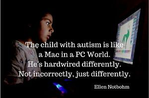 child with autism is different