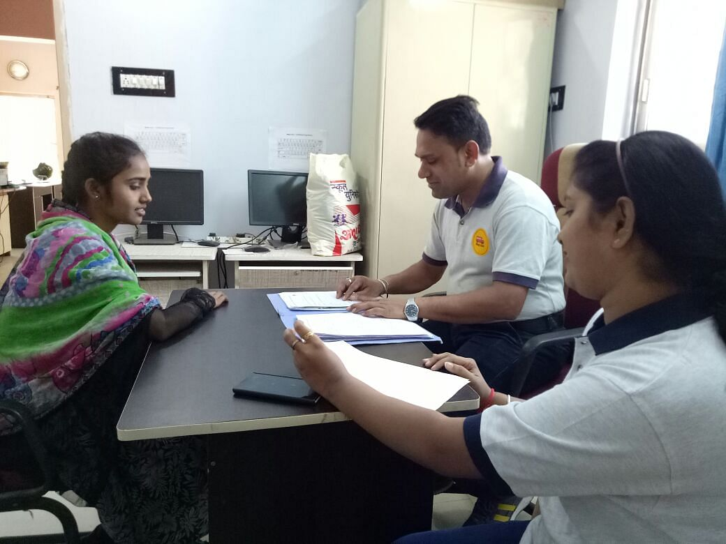 Magic Bus Youth Mentors doing Vaishnavi's Complete Need Assessment at one of the Magic Bus Livelihood Centres