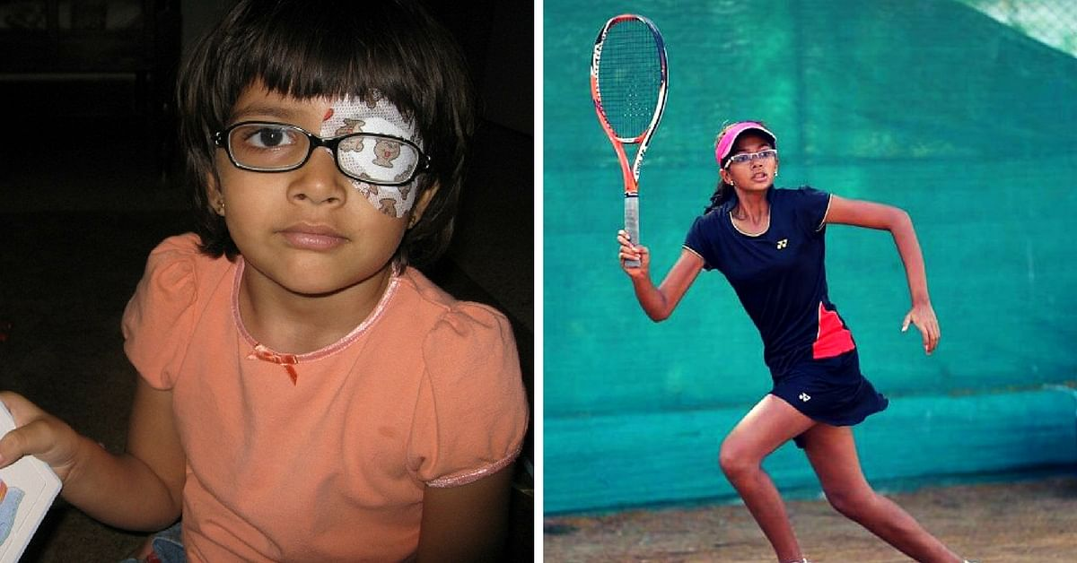 This Teenager Had to Wear an Eye Patch for 4 Years. Today She Is a National Tennis Champion.