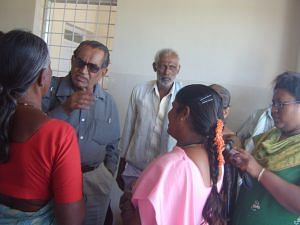 Ramaswamy in serious discussion with family in a hospital