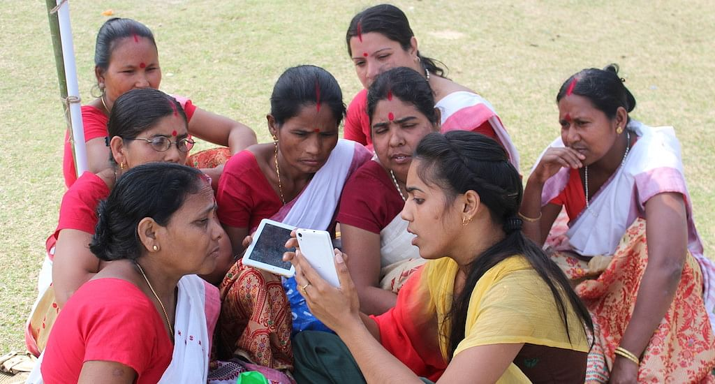 Internet Saathis are spreading the benefits of the World Wide Web in rural Assam. (Photo by Abdul Gani)
