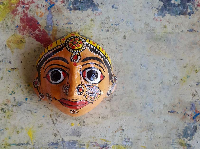 Masks and Scrolls of Cheriyal Paintings
