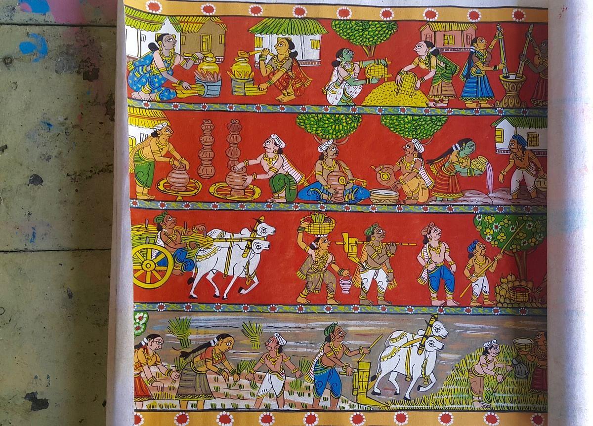 Cheriyal Scroll Paintings