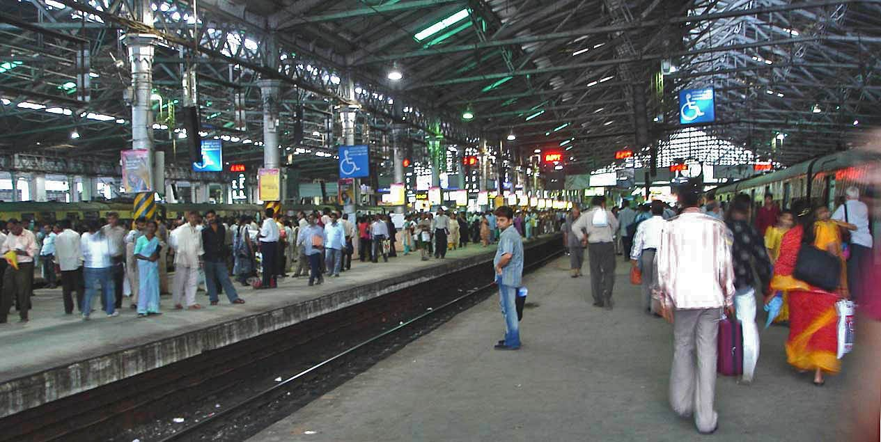 Image result for mumbai railway station