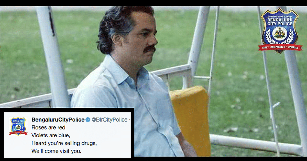 Bengaluru City Police Wins Hearts with Witty Narcos References for No Drugs Campaign