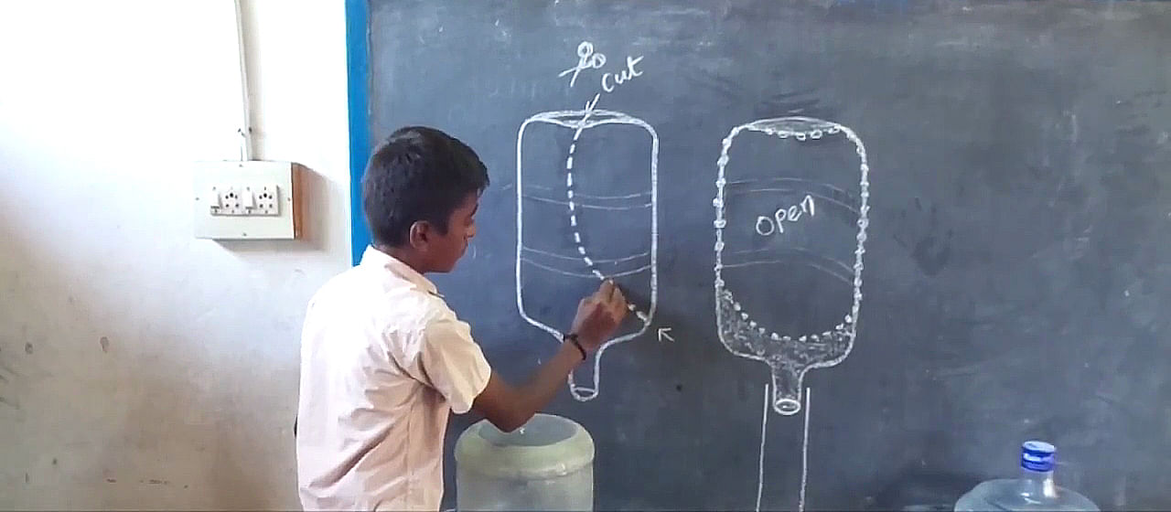 These 13 Year Olds Designed Urinals Using Waste Plastic