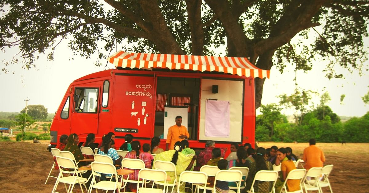 This Orange Bus Rolls into Villages and Equips Women with All They Need to Combat Poverty