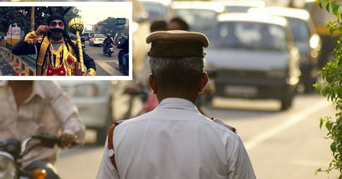 Texting While Driving? In Pune You Will Find Yourself Warned by Traffic Cops & Yamraj Himself!