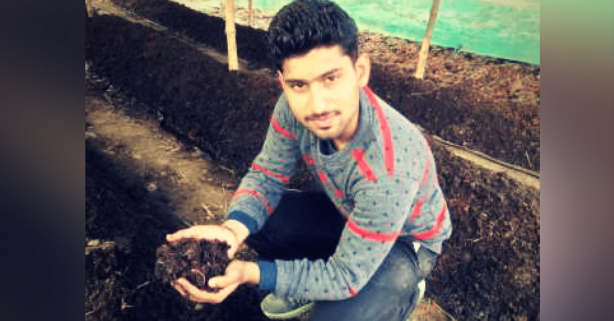 This 22-Year-Old Bareilly Boy Left CA Studies to Help Farmers Double Their Income Using Vermi-Composting