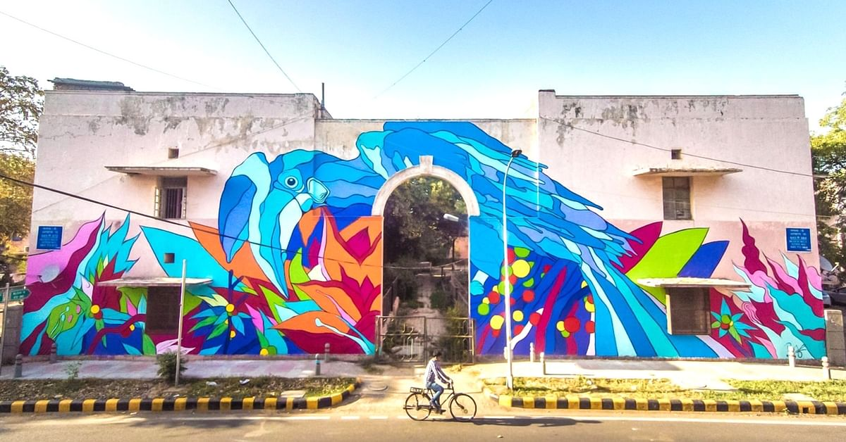 Life Through Colours: The Mesmerising Artworks of a Brazilian Duo in Delhi's Lodhi Art District