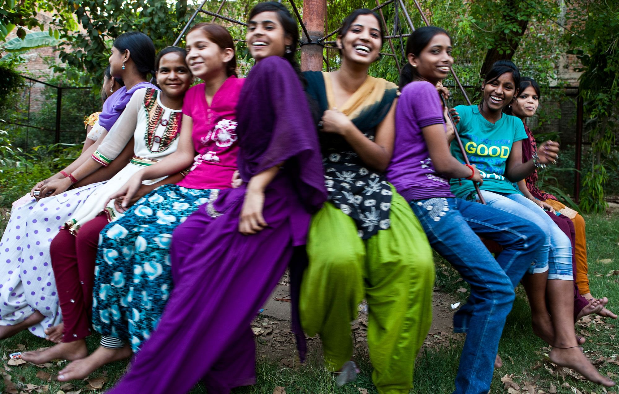 Reproductive Health adolescent girls at a playground