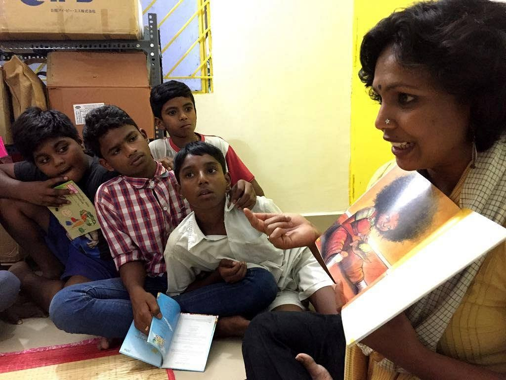 Buguri library Bengaluru ragpickers
