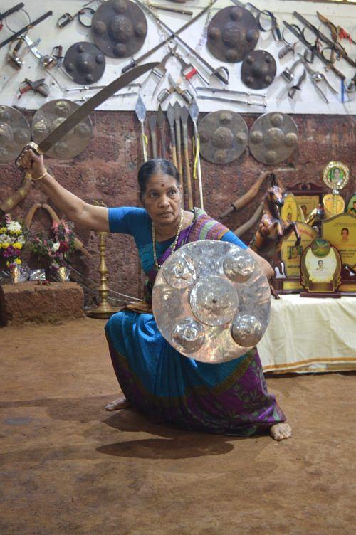 Kerala's Kalaripayattu Lady Is the Oldest Woman to Practice