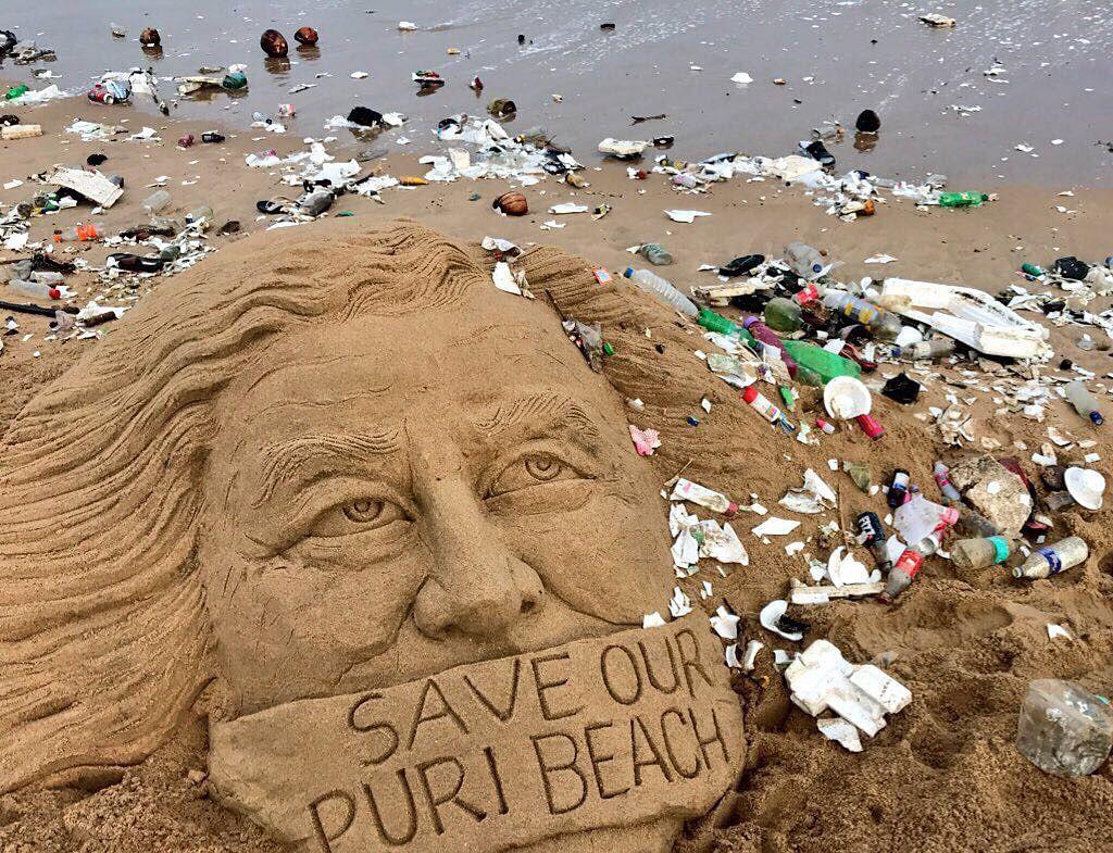 Sand art at puri beach artist