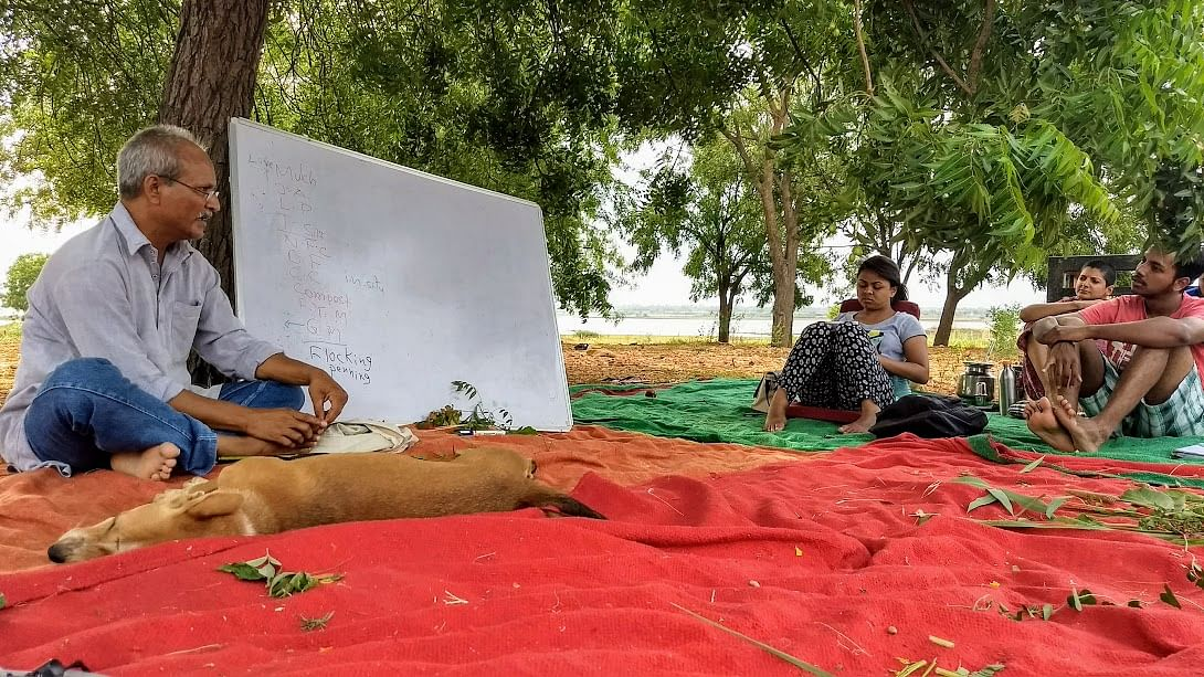 Lectures under neem trees