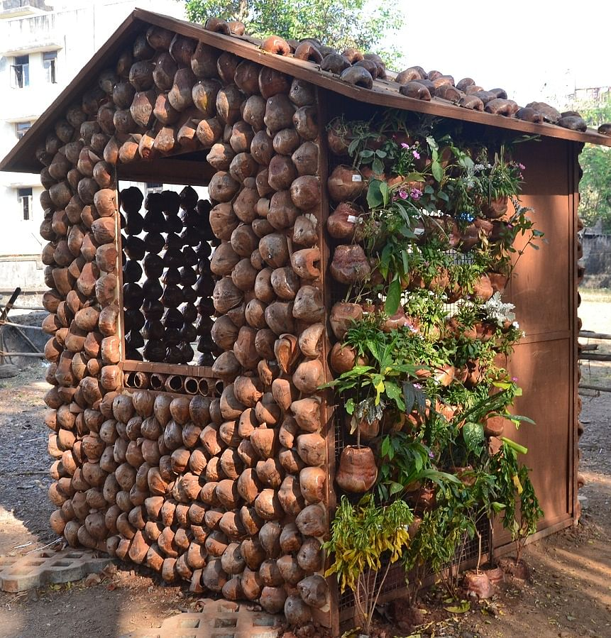 The Convergence Of Their Interests Brought Out The Rather Brilliant Concept  Of Low Cost Eco Friendly Housing Using Coconut Shells.