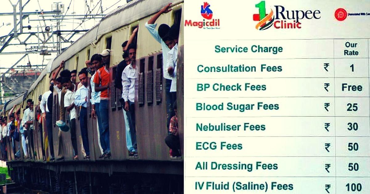 Rs 1 clinics- Mumbai- trains-