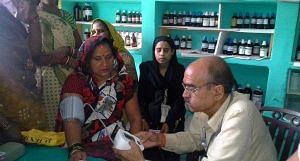 Consultation and medicines are free at the bi-weekly clinic that attracts patients from villages in a 3km radius. (Photo by Lokpriya Janhit Sewa Sansthan)