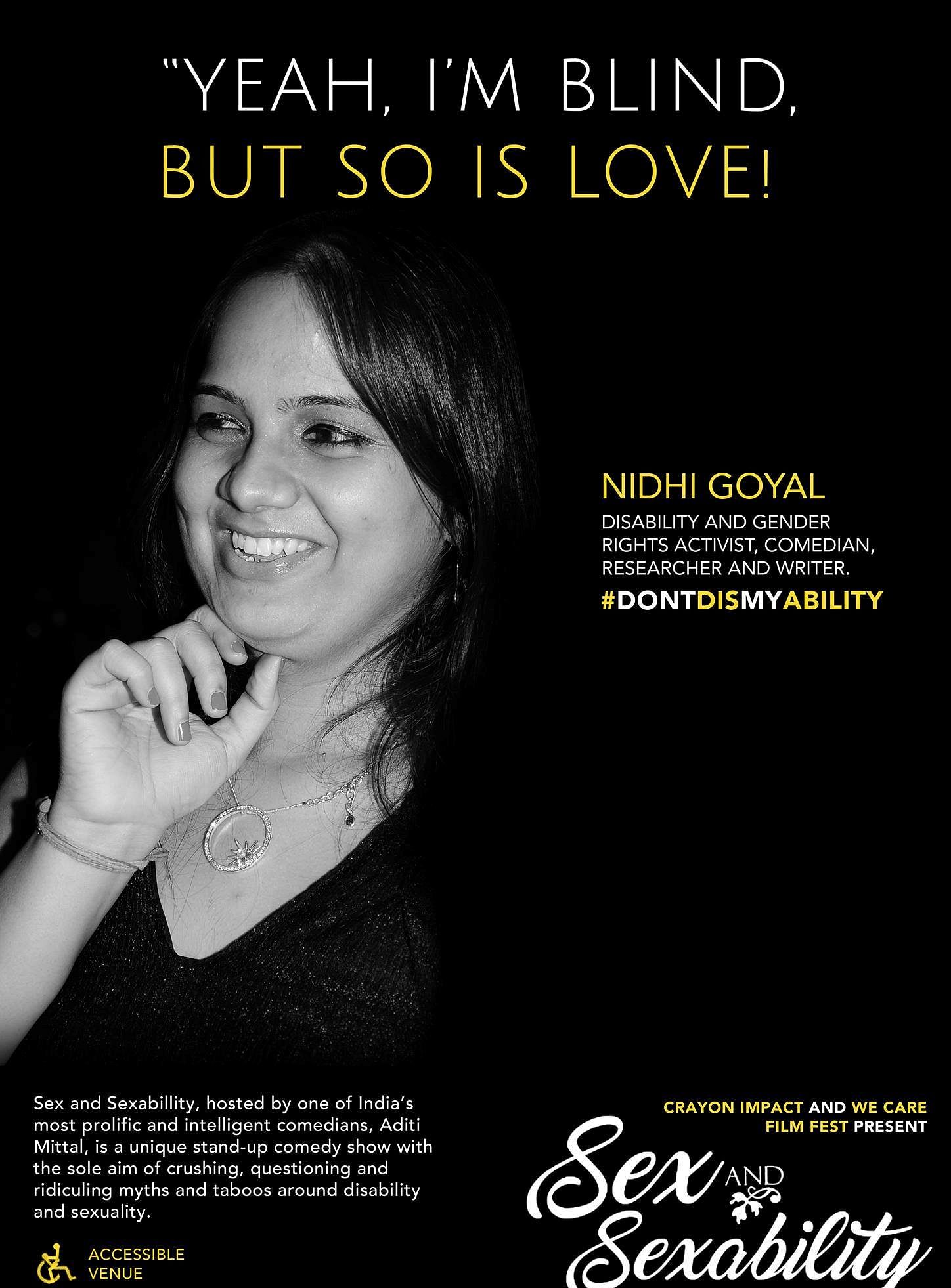 Nidhi Goyal - India's first disabled woman comedian
