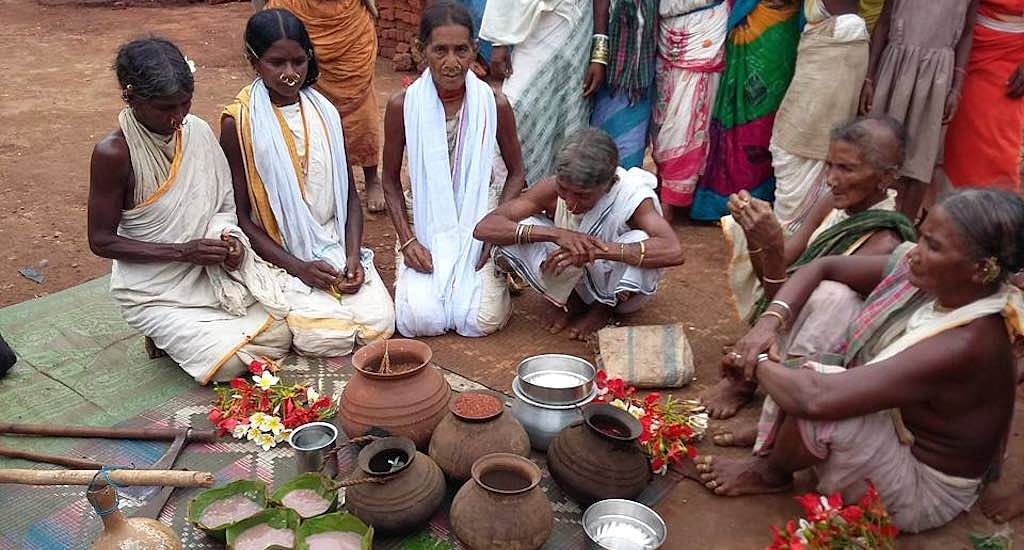 Dongria women at a seed festival. (Photo by Susanta Dalai)