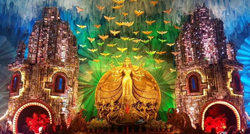Gouranga Kuila's pavilion art for a puja in Kolkata (Photo by Gouranga Kuila)
