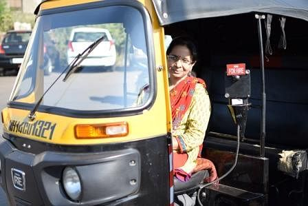 First woman auto-rickshaw driver India- Shila Dawre