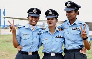 The pilots who will be felicitated as first ladies by the President.