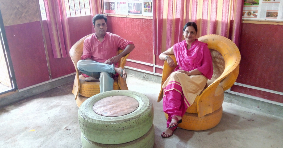 Furniture From Recycled Tyres! The Innovative Hyderabad Couple Behind This and More
