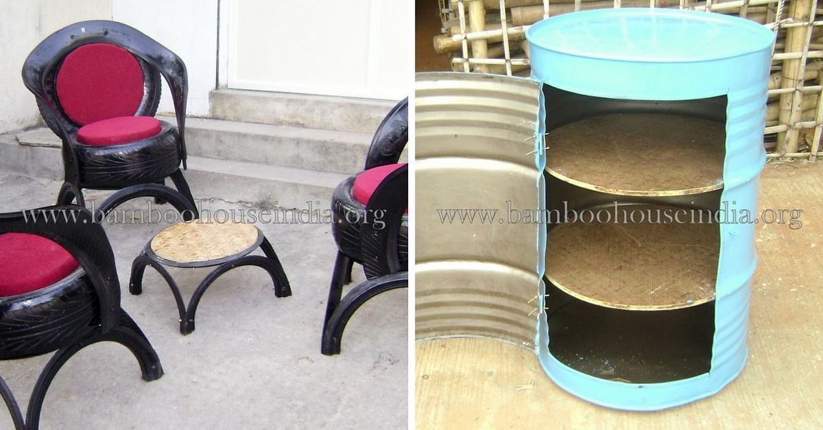 The Hyderabad Couple Who Transforms Used Tyres Into Striking Furniture