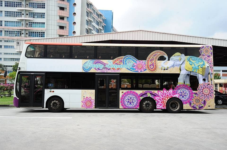 Singapore- Deepavali-themed buses trains Diwali
