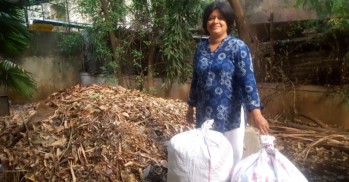 Pune Woman Collects Dry Leaves So They're Not Burnt. And Then She Does More!