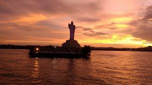 The Hussain Sagar Lake Hyderabad. Picture Courtesy: Wikipedia.