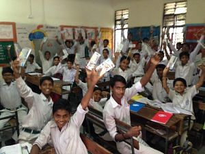 Students at the Government Senior Secondary School in Saket, New Delhi (Source: Ravinder Singh Dahiya)