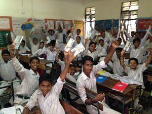 Students at the Government Senior Secondary School in Saket, New Delhi (Source: Ravinder Singh Dahiya)