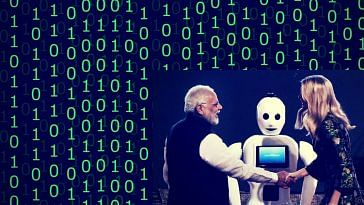 Mitra-India's First Humanoid. Image inset Photo Credit:- The Hindu.