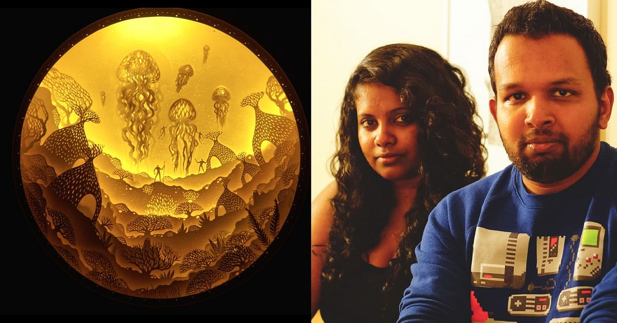 This Mumbai-Based Husband-Wife Artist Duo Create Masterpieces out of Paper & Light