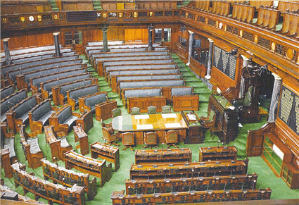 Lok Sabha Chamber Side View (Source: Parliament of India)