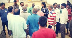 Speaking to the local community. Picture Courtesy. Facebook.