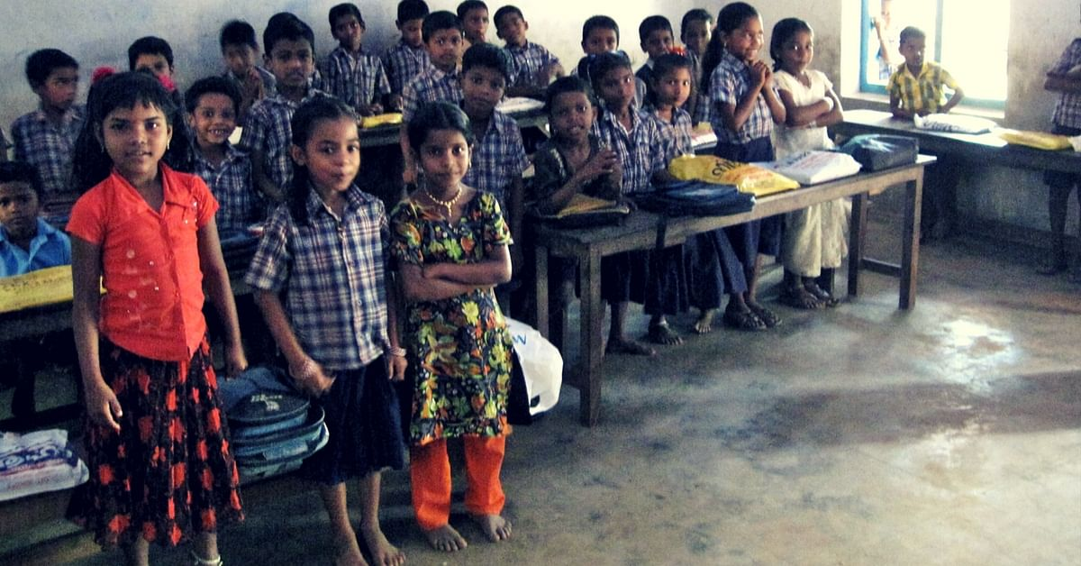 Students in a village school in India. Picture Courtesy: Wikimedia Commons.