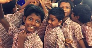 Students of A.U. English Medium School. Picture Courtesy: Speaking Chalk.