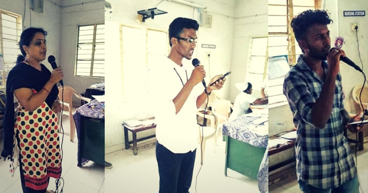Volunteers sing for patients. Picture Courtesy: Facebook.