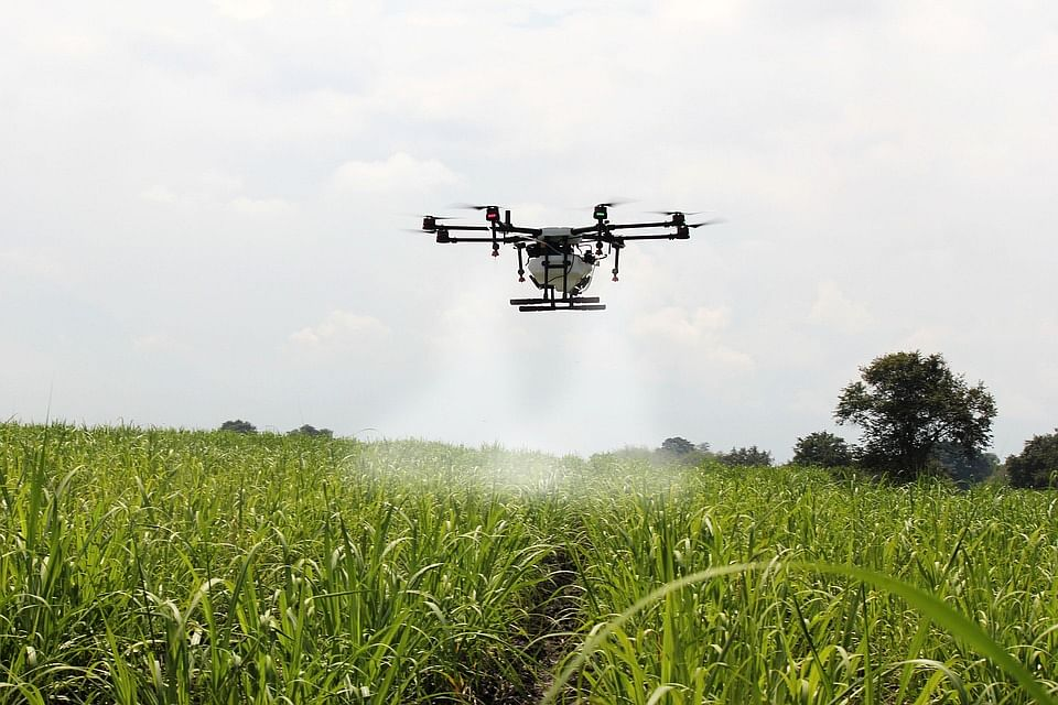 Karnataka Farmers Now Can Go Hi-Tech to Spray Fungicide on Their Trees