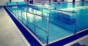 A pool with a ramp for the differently-abled. Image Courtesy: Flickr.