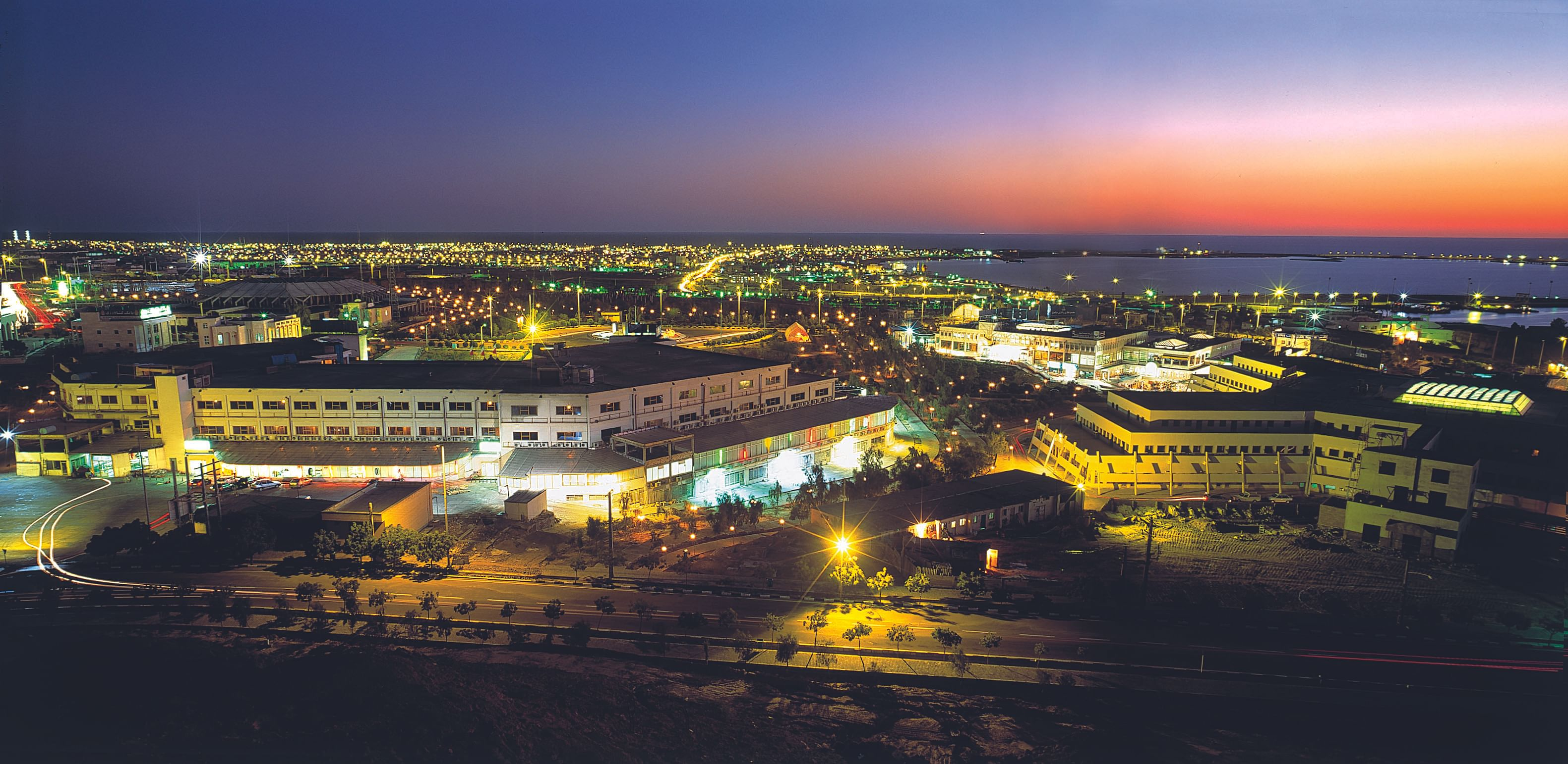 Night view of the Chabahar port (Source: Wikimedia Commons)