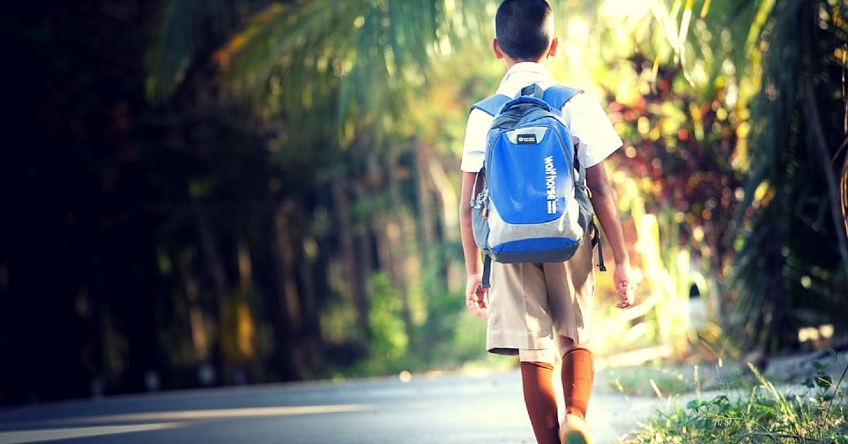 Children must not carry more than what is required. Representative Image. Picture Courtesy: Pixabay.
