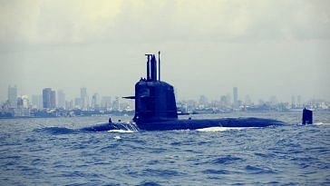 INS Kalvari at sea. Picture Courtesy: Wikimedia Commons.
